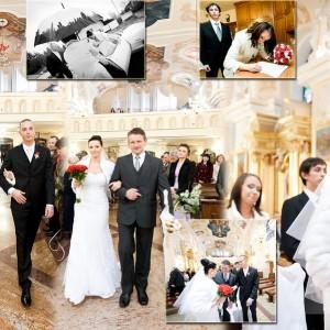Fotograf ślubny towarzyszył Młodej Parze w kościele podczas ślubu który wzięli w ubiegłym roku w Bielsku