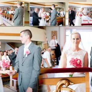 Zdjęcia ślubne wykonane podczas przygotowań do najważniejszego dnia dla narzeczonych w ich rodzinnym domu w Bielsku