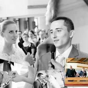 Na zdjęciach ze ślubu Beaty i Łukasza widać nowożeńców w najważniejszych momentach ceremonii która odbyła się w Bielsku