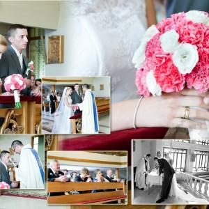 Sesja ślubna i zdjęcia z ślubu Beaty i Łukasza, który odbył się w kościele w Bielsku-Białej w ubiegłym roku