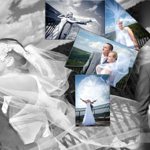Fotograf ślubny uchwycił w obiektywnie Beatę i Łukasza na sesji plenerowej wykonanej na starówce Bielska