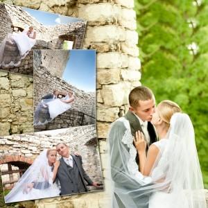 Romantyczna plenerowa sesja ślubna Beaty i Łukasza zrealizowana kilka dni po ślubie Młodej Pary z Bielska-Białej