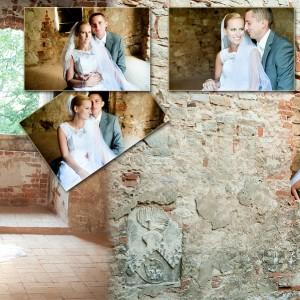 Zdjęcia ze ślubu wzbogacone fotografiami z sesji plenerowej Beaty i Łukasza wykonanej w Bielsku