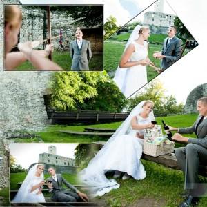 Fotograf ślubny towarzyszył Agacie i Rafałowi w kościele podczas ślubu który wzięli w ubiegłym roku w Bielsku