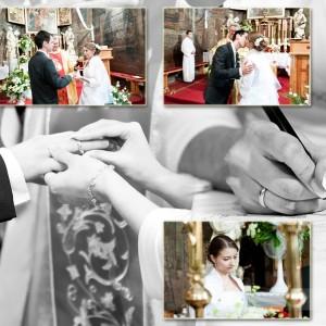 Reportaż ślubny ze ślubu Agaty i Rafała, który odbył się w niewielkim starym kościele pod Bielskiem