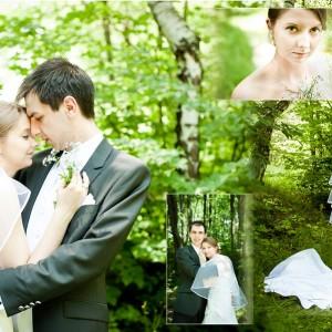 Plener ślubny z udziałem nowożeńców Agaty i Rafała odbył się w otoczeniu przyrody za miastem Bielskiem