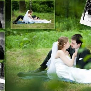Romantyczna plenerowa sesja ślubna Agaty i Rafała zrealizowana kilka dni po ślubie Młodej Pary z Bielska-Białej