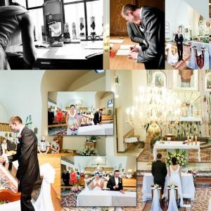 Na zdjęciach ze ślubu nie może zabraknąć momentu składania przysięgi małżeńskiej przez parę z Bielska-Białej