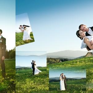 Zdjęcia ślubne to także sesja plenerowa tak jak w przypadku Klaudii i Michała realizowana przy zachodzie słońca nad Bielskiem