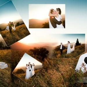 Sesja ślubna Klaudii i Michała po części zrobiona w bajkowym jesiennym parku w Bielsku-Białej