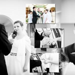 Fotograf wykonał sesję ślubną według życzenia Młodej Pary na basenie miejskim w Bielsku-Białej