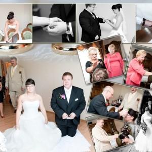 Ceremonia zawarcia małżeństwa, która odbyła się w Bielsku uchwycona na zdjęciach ślubnych Kamili i Darka