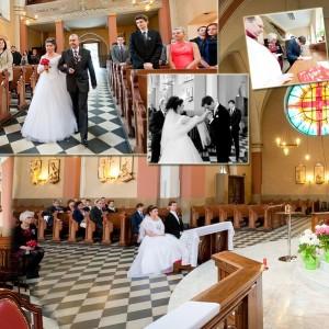Na fotografii ślubnej nie może zabraknąć momentu składania przez Wiktorię i Kamila przysięgi na ślubie w Bielsku