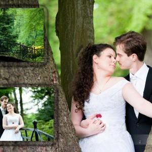 Plener ślubny to doskonały moment na uwiecznienie pięknych strojów Państwa Młodych z Bielska