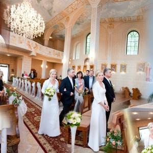 Reportaż ze ślubu zawartego przez Justynę i Marka w kościele w Bielsku-Białej w ubiegłym roku