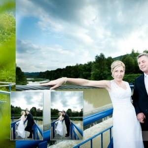 Sesja ślubna Justyny i Marka odbyła się w Bielsku z uczestnictwem świadków nowożeńców