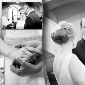Fotograf ślubny musi uchwycić na zdjęciach takie momenty ślubu w Bielsku jak toast i pierwszy taniec nowożeńców