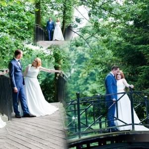 Zdjęcia ślubne fotograf może wykonać także podczas plenerowej sesji nowożeńców z Bielska