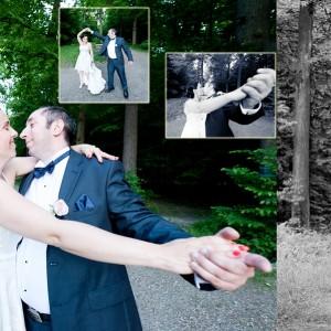 Plener ślubny Olgi i Maćka wykonany został w bajkowym parku pod Bielskiem w ubiegłym roku