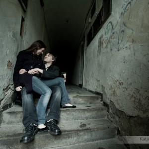 Starówka Bielska to idealne miejsce na sesję z fotografem ślubnym i wykonanie sesji narzeczeńskiej