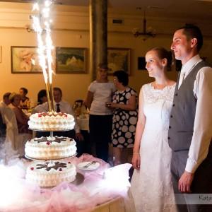 Reportaż ślubny zawiera fotografie z ceremonii zawarcia małżeństwa ale także z samego wesela w Bielsku