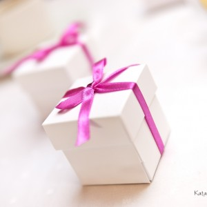 Na zdjęciach ślubnych można pokazać także dekoracje czy upominki dla gości wesela w Bielsku