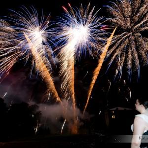 Plener ślubny z fajerwerkami to oryginalny pomysł na pamiątkę z wesela Asi i Marka z Bielska