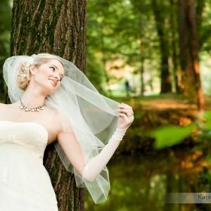 Na miejsce wiosennej sesji plenerowej po ślubie Ani i Rafała fotograf ślubny wybrał park w Bielsku-Białej