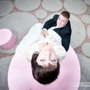 Sesja ślubna w rodzinnym mieście nowożeńców Bielsku-Białej będzie im przypominała ten najważniejszy dzień w życiu