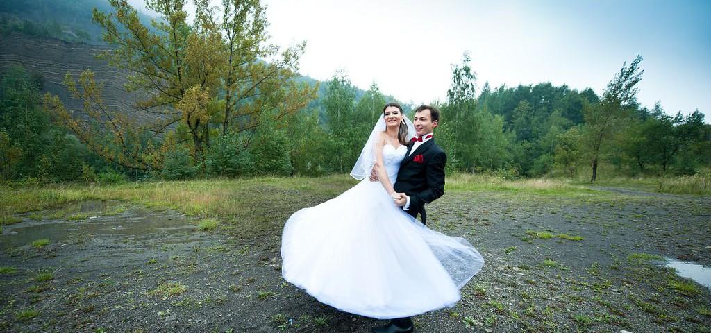 Para młoda na jesiennym plenerze, fotograf ślubny Bielsko-Biała