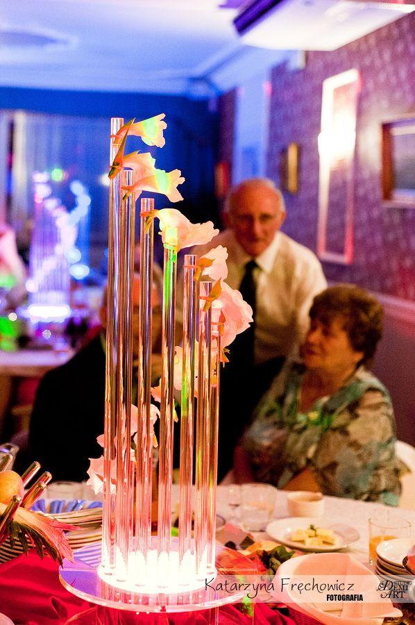Fotograf na wesele Bielsko-Biała fantazyjna ozdoba na weselnym stole
